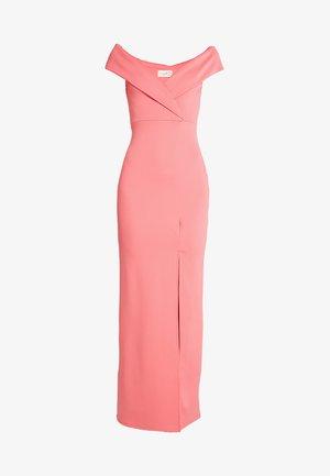 BRIDESMAID BARDOT DETAIL DRESS - Maxi šaty - coral