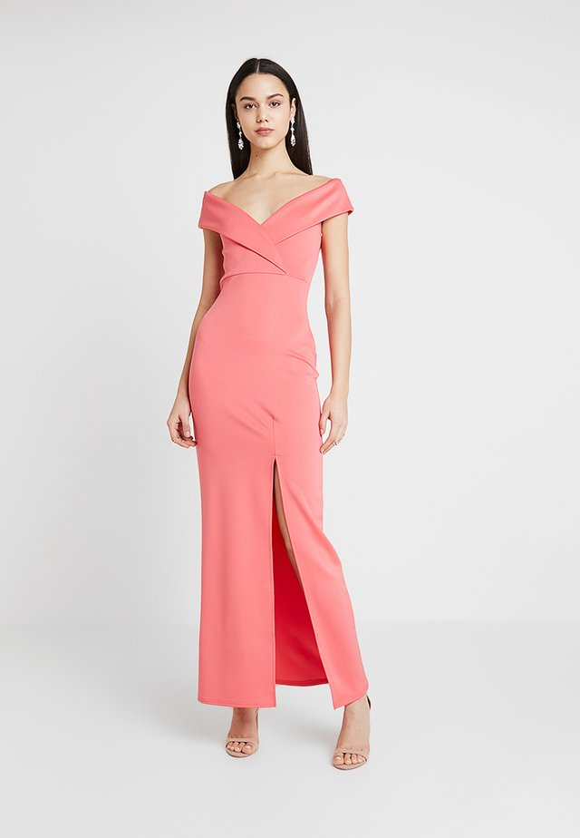 BRIDESMAID BARDOT DETAIL DRESS - Maxikjoler - coral