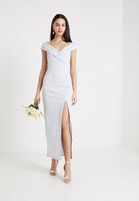 Club L London - BRIDESMAID BARDOT DETAIL DRESS - Maxikjole - light blue - 1