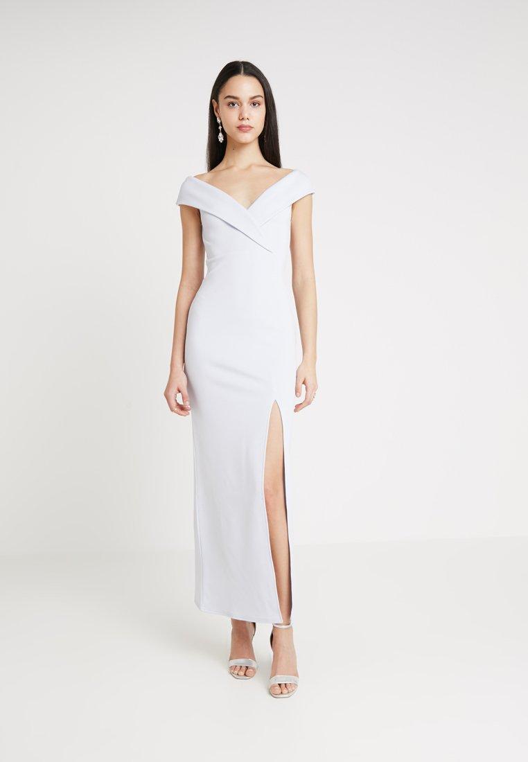 Club L London - BRIDESMAID BARDOT DETAIL DRESS - Maxikjole - light blue