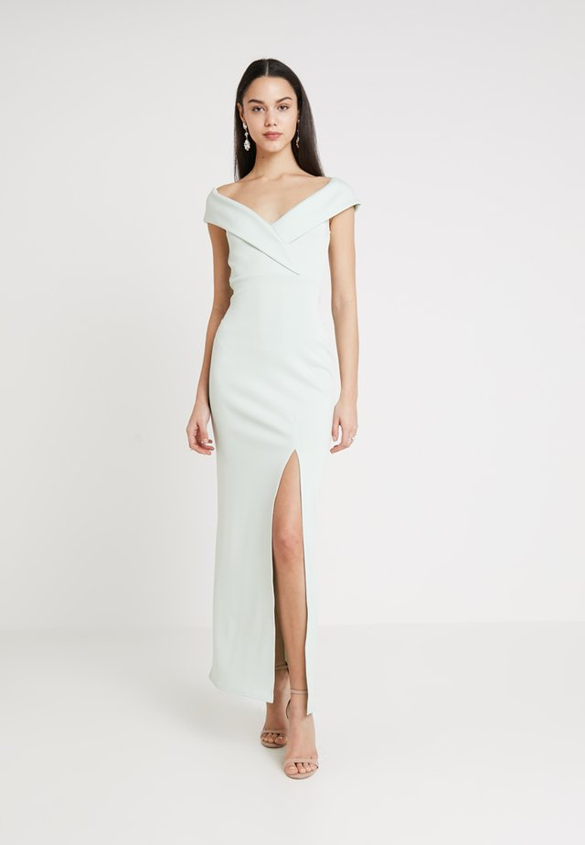 BRIDESMAID BARDOT DETAIL DRESS - Robe longue - mint