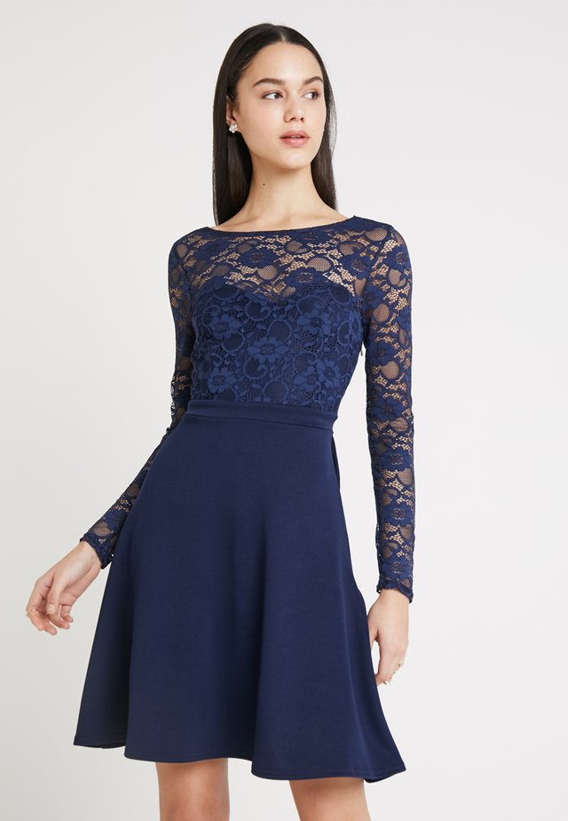 BRIDESMAID BOW BACK DETAIL SKATER DRESS - Cocktail dress / Party dress - navy