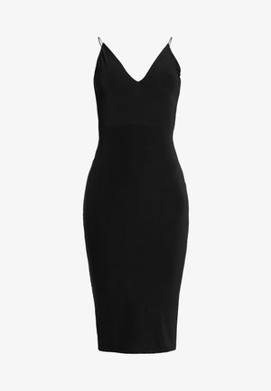 RUCHED MIDI DRESS - Shift dress - black