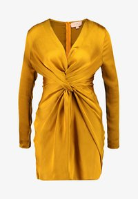 Club L London - TWIST FRONT MINI DRESS - Denní šaty - mustard - 4