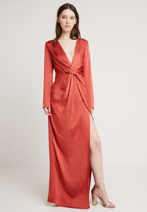 TWIST FRONT MAXI DRESS - Vestito elegante - rust