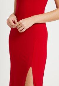 Club L London - SQUARE NECK THIGH SPLIT DRESS - Maxiklänning - red - 5