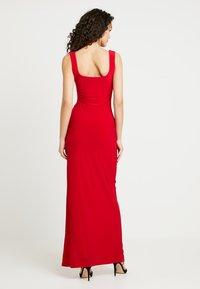 Club L London - SQUARE NECK THIGH SPLIT DRESS - Maxiklänning - red - 2