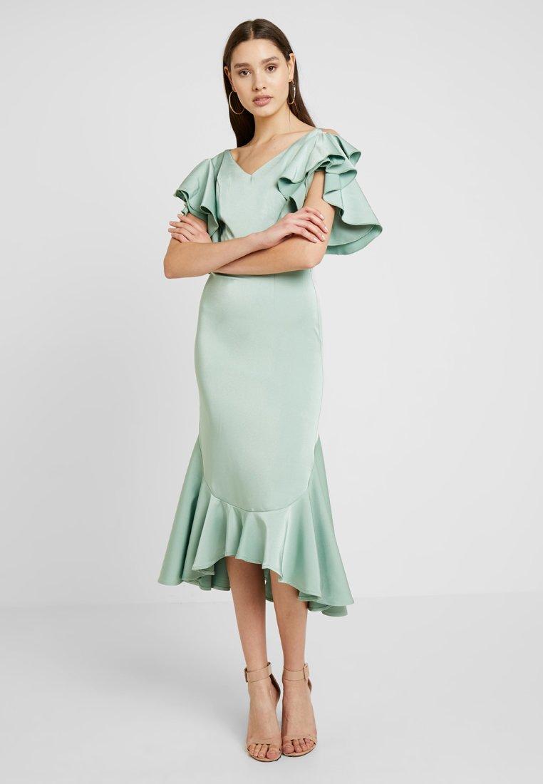 Club L London - RUFFLE MIDI DRESS - Cocktailkleid/festliches Kleid - mint