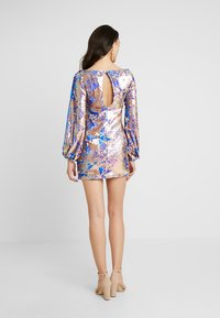 Club L London - AZTEK SEQUIN DRESS WITH GATHERED SLEEVE - Cocktailkjole - pink - 2