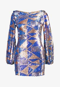 Club L London - AZTEK SEQUIN DRESS WITH GATHERED SLEEVE - Cocktailkjole - pink - 3