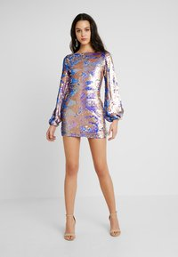 Club L London - AZTEK SEQUIN DRESS WITH GATHERED SLEEVE - Cocktailkjole - pink - 1