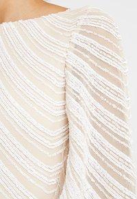 Club L London - FULL SLEEVE BODY CON SEQUIN DRESS - Juhlamekko - white - 6