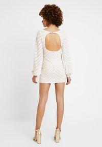 Club L London - FULL SLEEVE BODY CON SEQUIN DRESS - Juhlamekko - white - 3