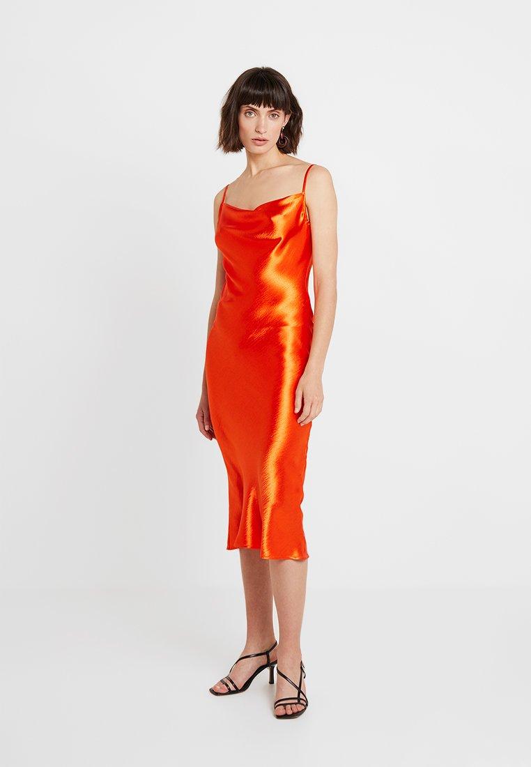 Club L London - COWL NECK DRESS - Robe d'été - orange