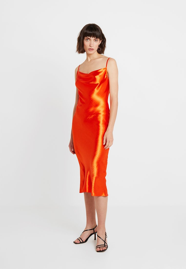 Club L London - COWL NECK DRESS - Day dress - orange