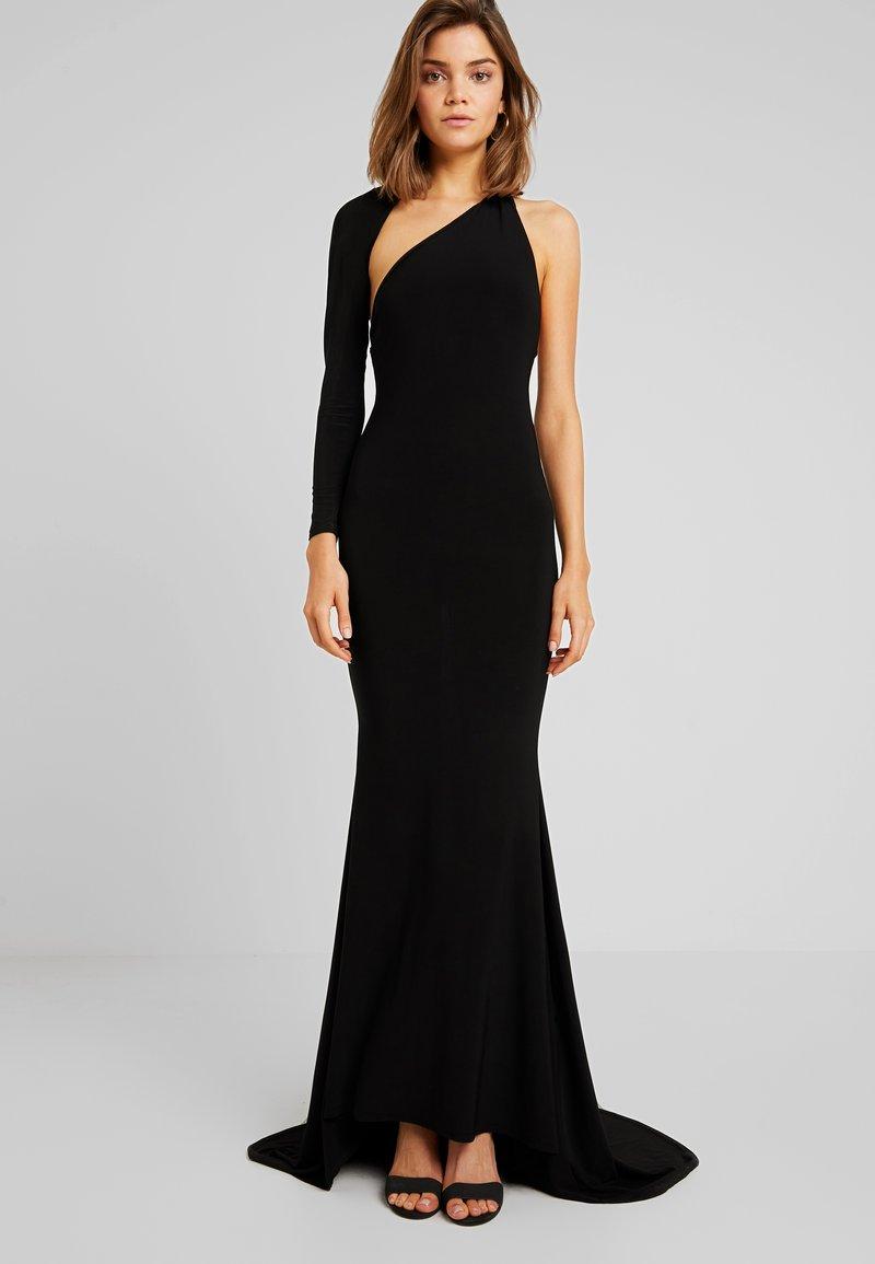 Club L London - ONE SHOULDER FISHTAIL DRESS - Festklänning - black
