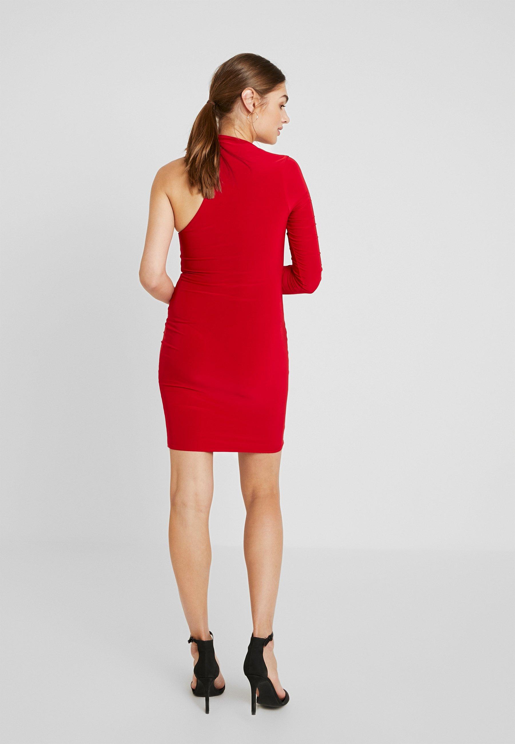 Jersey L Shoulder Red London En Club One DressRobe Mini fyb7g6