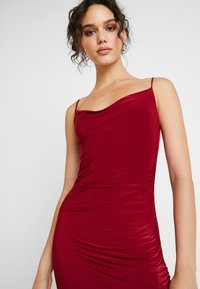 Club L London - CAMI STRAP COWL INSERT BACK DRESS - Occasion wear - wine - 4
