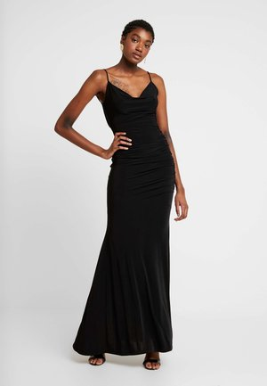 CAMI STRAP COWL INSERT BACK DRESS - Iltapuku - black