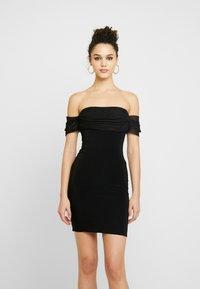 Club L London - BARDOT MINI DRESS - Vestito elegante - black - 0