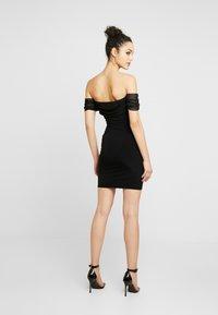 Club L London - BARDOT MINI DRESS - Vestito elegante - black - 3