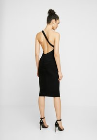 Club L London - ONE SHOULDER RUCHED BUM MIDI DRESS - Cocktailkjole - black - 3