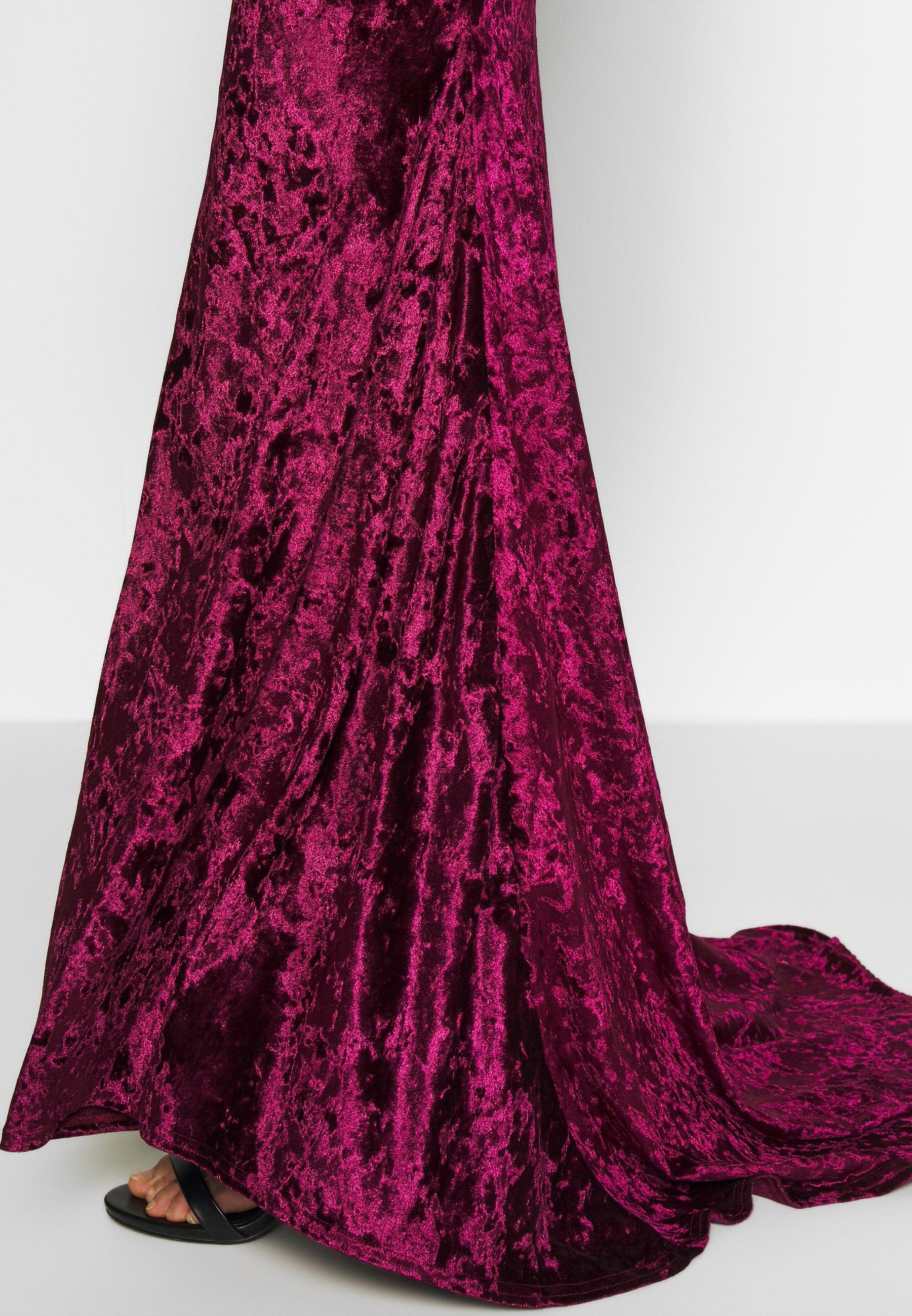 Club L London CROSS BACK FISHTAIL MAXI DRESS - Suknia balowa - wine