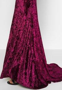 Club L London - CROSS BACK FISHTAIL MAXI DRESS - Occasion wear - wine - 4