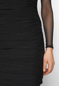 Club L London - LONG SLEEVE PANEL MINI DRESS - Pouzdrové šaty - black - 5