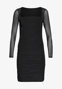 Club L London - LONG SLEEVE PANEL MINI DRESS - Pouzdrové šaty - black - 4