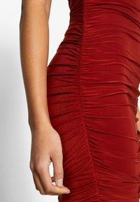 Club L London - BARDOT RUCHED DRESS - Cocktail dress / Party dress - rust - 4