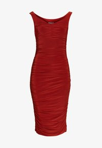 Club L London - BARDOT RUCHED DRESS - Cocktail dress / Party dress - rust - 3