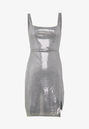 SEQUIN NECK MINI DRESS - Cocktail dress / Party dress - grey