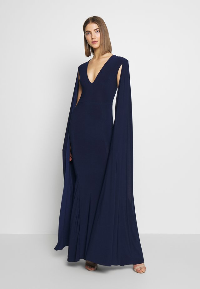 CAPE SLEEVE FISHTAIL - Occasion wear - navy
