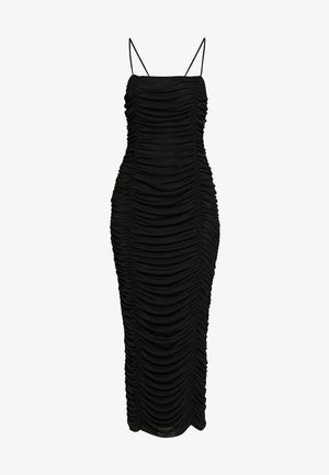 CAMI RUCHED DRESS - Galajurk - black