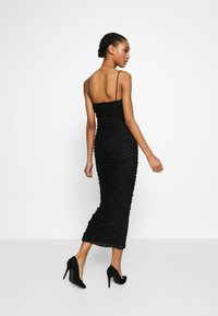 Club L London - CAMI RUCHED DRESS - Galajurk - black - 2
