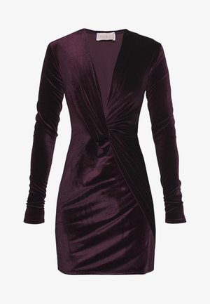 TWIST FRONT MINI DRESS - Cocktailkjoler / festkjoler - purple