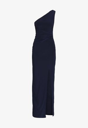 ONE SHOULDER RUCHED WAIST MAXI DRESS - Gallakjole - navy