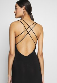 Club L London - DOUBLE STRAP CROSS BACK FISHTAIL MAXI DRESS - Iltapuku - black - 4