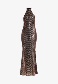 Club L London - SEQUIN HIGH NECK FISHTAIL MAXI DRESS - Vestido de fiesta - gold - 4