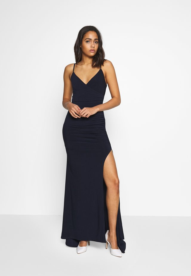 CAMI WRAP MAXI DRESS - Vestido de fiesta - navy