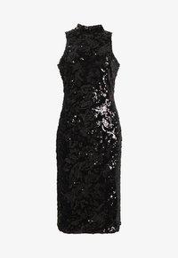 Club L London - SEQUIN HIGH NECK MIDI DRESS - Vestido de cóctel - black - 3