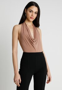 Club L London - COWL FRONT - Top - stone - 0