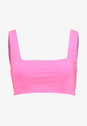 SQUARE NECK SLEEVELESS - Top - neon pink