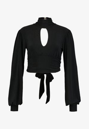 SLINKY TIE BACK HIGH NECK  - Topper langermet - black