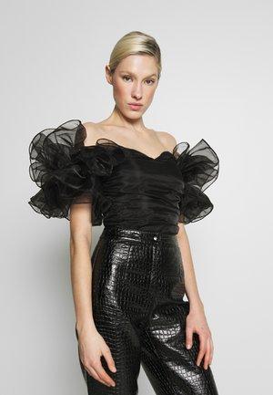 EXTREME RUFFLE BODYSUIT - Blusa - black