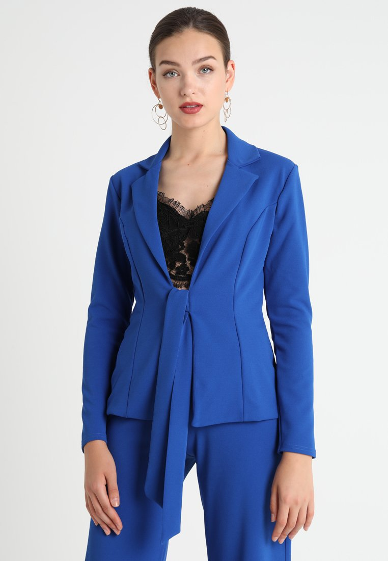Club L London - TIE FRONT - Blazer - cobalt blue