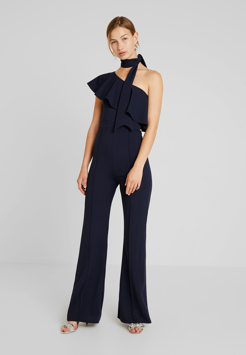 Club L London - ONE SHOULDER RUFFLE - Overall / Jumpsuit /Buksedragter - navy
