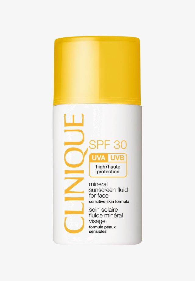 SPF30 MINERAL SUNSCREEN FLUID FOR FACE 30ML - Sonnenschutz - -