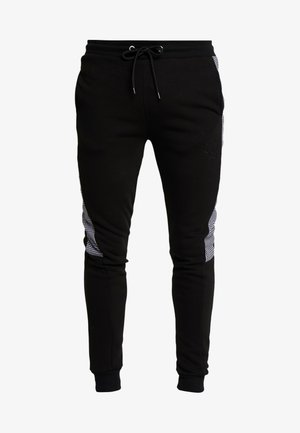 CONTRAST CHECKE - Trainingsbroek - black